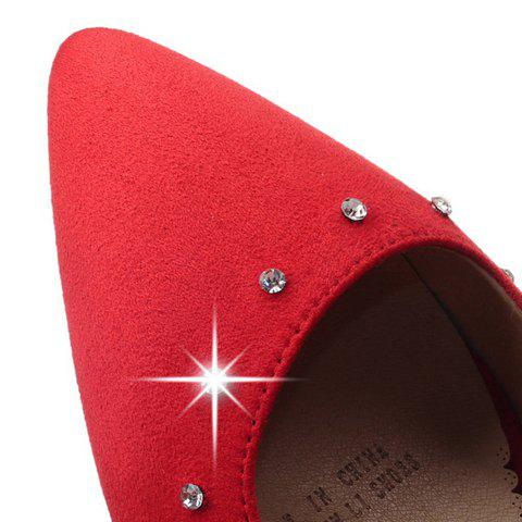 Cheap Stylish Suede and Solid Color Design Pumps For Women - 37 RED Mobile