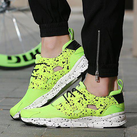 Outfits Casual Cloth and Lace-Up Design Sneakers For Men - 43 GREEN Mobile
