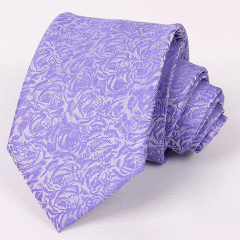Store Hot Sale Retro Floral Jacquard Purple Neck Tie For Men