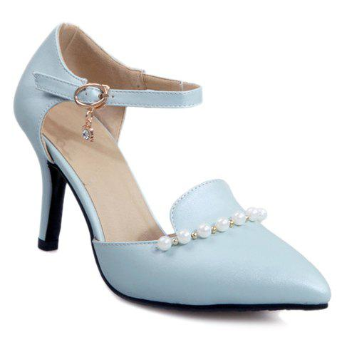Fashion Sweet Beading and PU Leather Design Pumps For Women