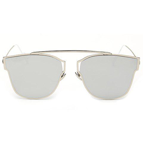 Best Hollow Out Silver Metal Frame Mirror Sunglasses