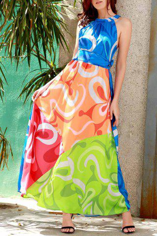 Shops Sleeveless Colorful Maxi Dress - S COLORMIX Mobile