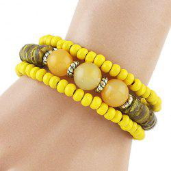 Charming Multilayered Beads Bracelet For Women -