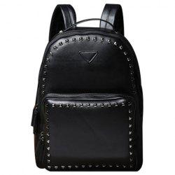 Stylish Rivets and Black Design Backpack For Men