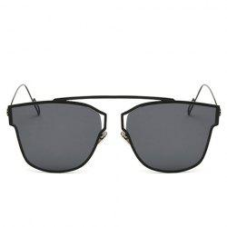 Chic Hollow Out Metal Frame Sunglasses For Women - BLACK