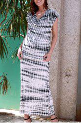 Tie Dye Tee Shirt Maxi Dress -