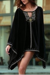 Stylish Long Sleeve Embroidery Beaded Women's Dress