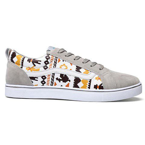 Casual Cotton Fabric Lace-Up Design Sneakers Men 44