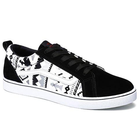 Casual Cotton Fabric Lace-Up Design Sneakers Men