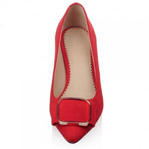 Simple Slip-On and Suede Design Pumps For Women -