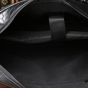 Stylish Crocodile Print and Zips Design Briefcase For Men -