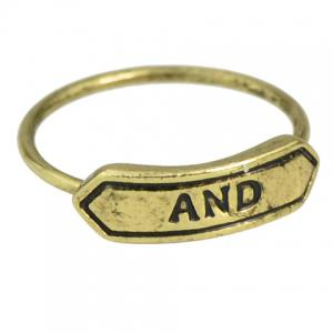 A Suit of Vintage Letter Carving Rings -