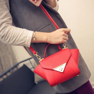 New Arrival Solid Colour and PU Leather Design Tote Bag For Women -