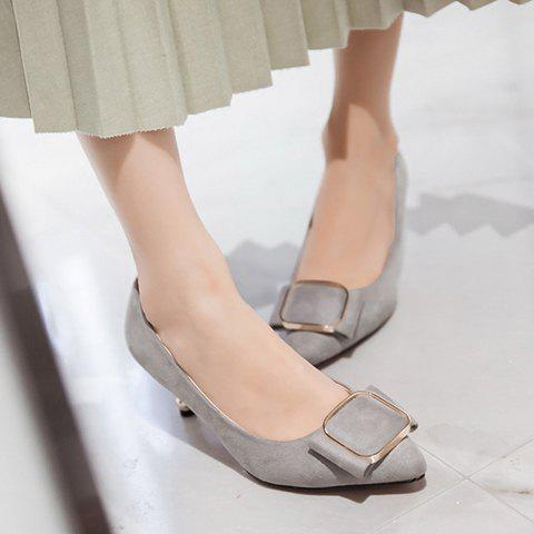 Latest Simple Slip-On and Suede Design Pumps For Women - 38 GRAY Mobile
