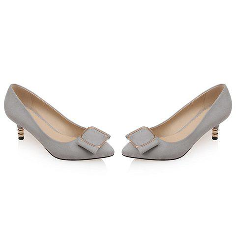 New Simple Slip-On and Suede Design Pumps For Women - 38 GRAY Mobile