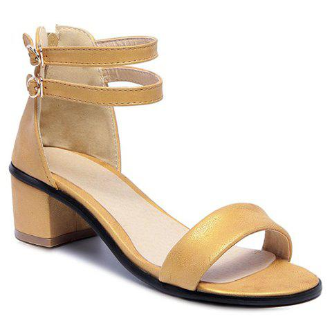 Outfit Leisure Double Strap and Chunky Heel Design Sandals For Women