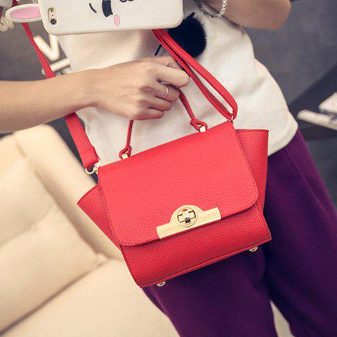 Shops Fashionable Lichee Pattern and PU Leather Design Tote Bag For Women -   Mobile