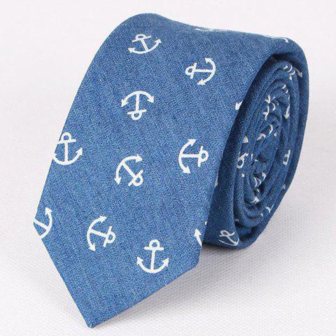 Outfits Hot Sale Retro Anchor Pattern Denim Neck Tie For Men