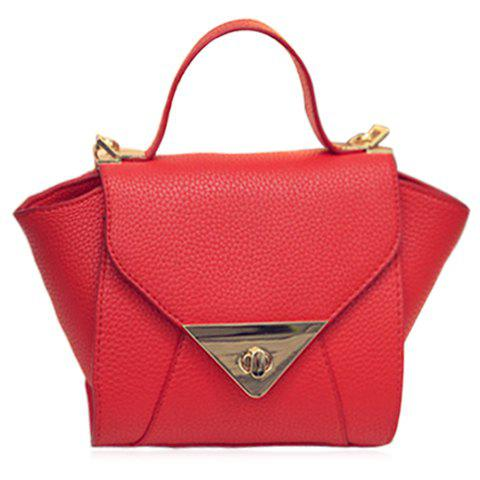 Shop New Arrival Solid Colour and PU Leather Design Tote Bag For Women - RED  Mobile