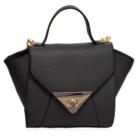 Store New Arrival Solid Colour and PU Leather Design Tote Bag For Women - BLACK  Mobile