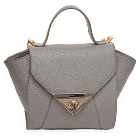 Buy Solid Colour PU Leather Design Tote Bag Women