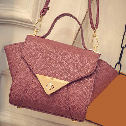 Store New Arrival Solid Colour and PU Leather Design Tote Bag For Women - DEEP PINK  Mobile