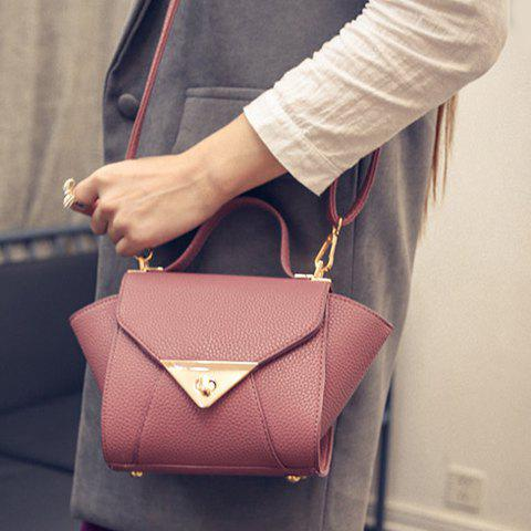 New New Arrival Solid Colour and PU Leather Design Tote Bag For Women - DEEP PINK  Mobile