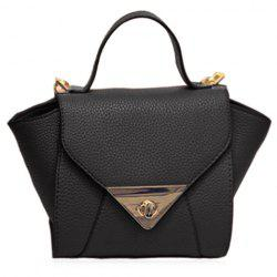 New Arrival Solid Colour and PU Leather Design Tote Bag For Women - BLACK