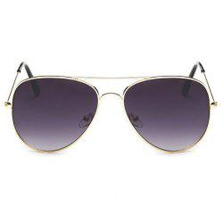 Gradual Color Lenses Metal Frame Pilot Sunglasses - DEEP PURPLE