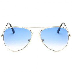 Gradual Color Lenses Metal Frame Pilot Sunglasses