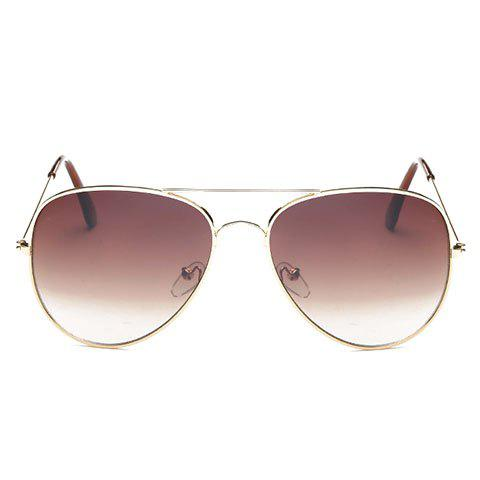 Outfit Gradual Color Lenses Metal Frame Pilot Sunglasses