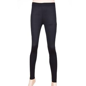 Simple Elasitc Waist Solid Color Fitted Women's Pants