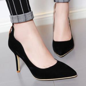 Trendy Metal and Hollow Out Design Pumps For Women -