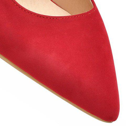 Cheap Trendy Metal and Hollow Out Design Pumps For Women - 35 RED Mobile