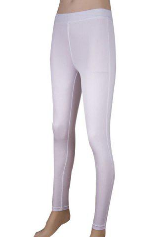 New Simple Elasitc Waist Solid Color Fitted Women's Pants