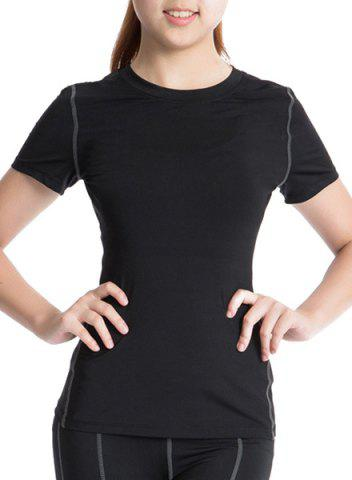 Cheap Short Sleeves Round Neck Running Gym T-Shirt