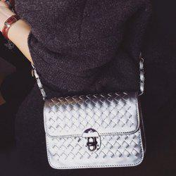 Stylish Weaving and Hasp Design Crossbody Bag For Women -