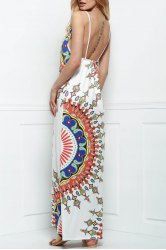 Open Back Beach Maxi Slip Dress