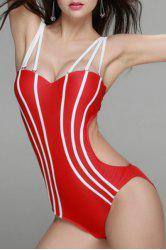 Sexy Spaghetti Straps Backless One Piece Swimwear For Women