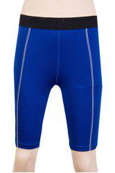 Fitted Solid Color Quick-Dry Women's Gym Cropped Pants -