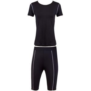 Stylish Short Sleeves Fitted Quick-Dry Women's Activewear Suit