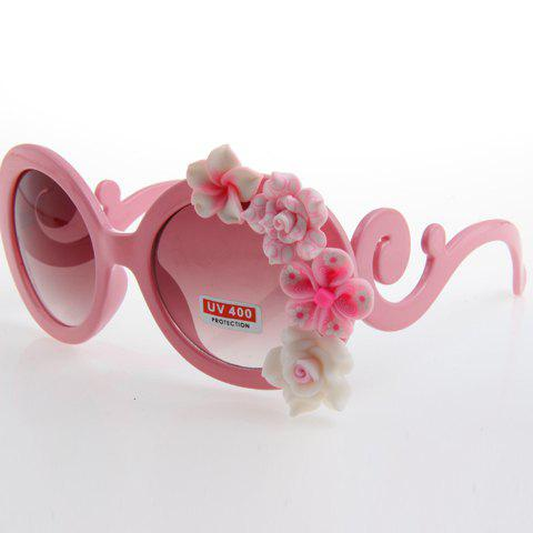 Outfits Chic Flower Embellished Pink Sunglasses For Women