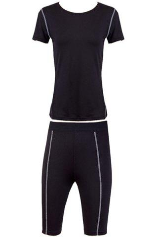 Short Sleeves Fitted Quick Dry Activewear Suit 172365601