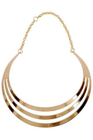 Chic Statement Mirror Side Multilayered Necklace GOLDEN