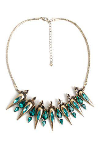 Latest Retro Faux Crystal Water Drop Necklace