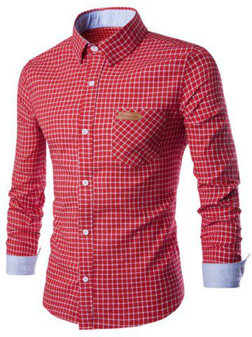 Buy Long Sleeve Slimming Checked Cotton Shirt