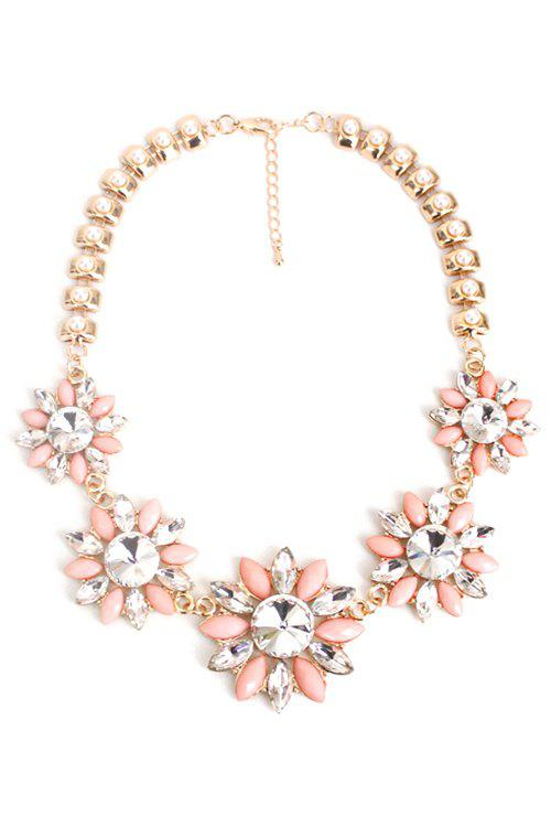 Shops Charming Faux Pearl Floral Necklace For Women