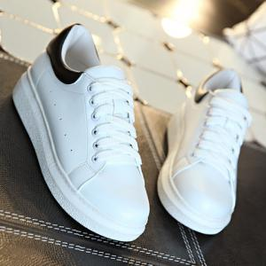 Concise Lace-Up and Colour Block Design Athletic Shoes For Women -