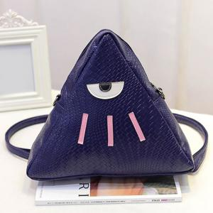 Cute PU Leather and Triangle Design Backpack For Women -