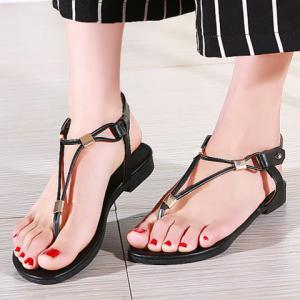 Casual Solid Color and Flip Flops Design Sandals For Women -